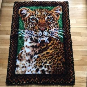 Leopard Hook Rug, Wall Hanging
